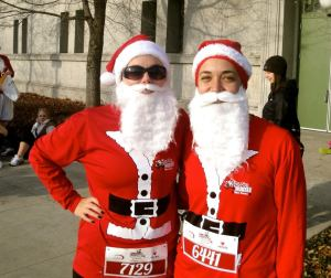 Running Santas, one of many year-round races