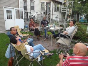 My family enjoying that backyard life