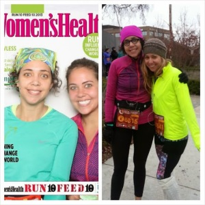 Felice was hesitant to start running 10k races, but smashed her own personal best by 7 minutes (right), only one month after completing her first 10k (left)