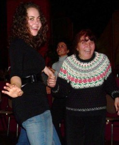 My sister with my abuela, out dancing and almost 80
