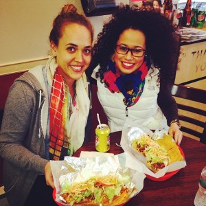 Having a jibarito in Boston's South End with Krystal last month; not the same as Chicago Rican style!